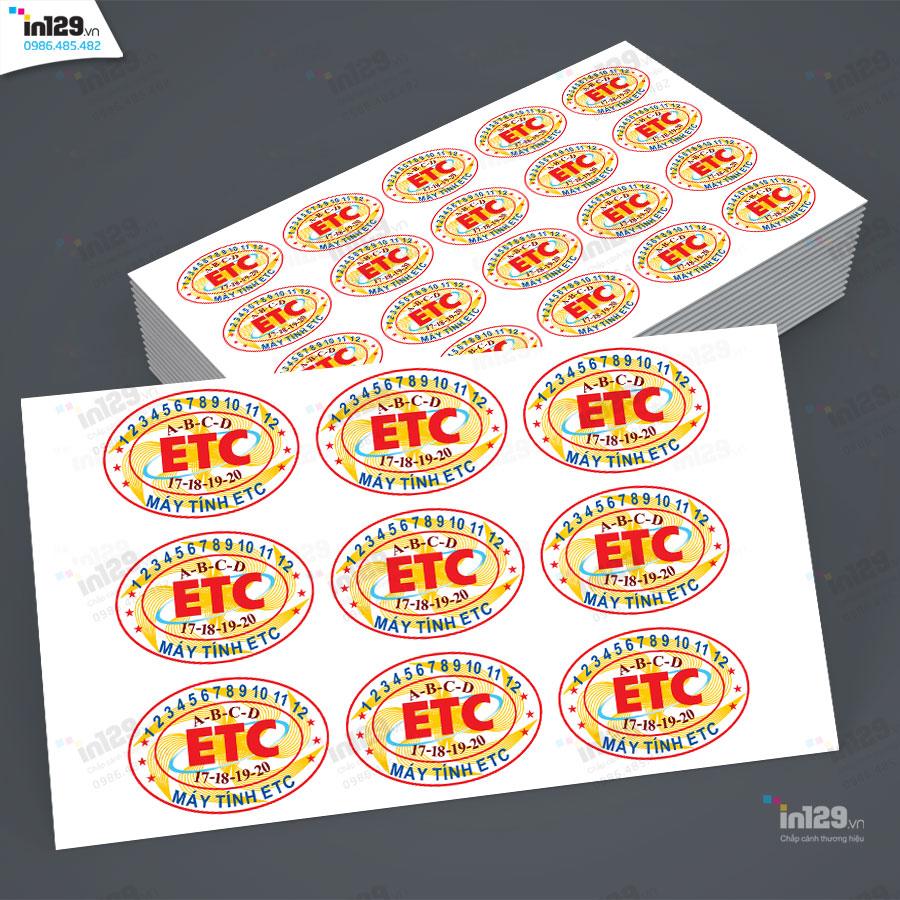 mẫu tem bảo hành cửa hàng máy vi tính