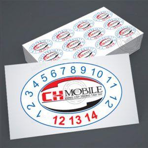 In tem bảo hành giá rẻ CH Mobile