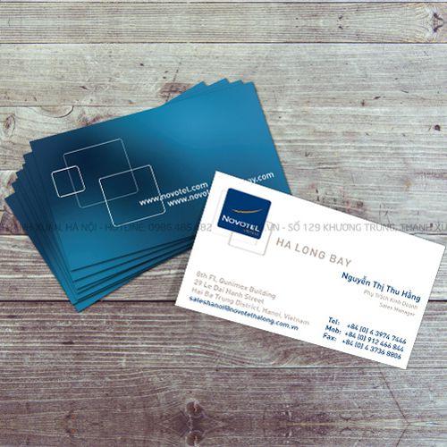 mẫu card visit khách sạn