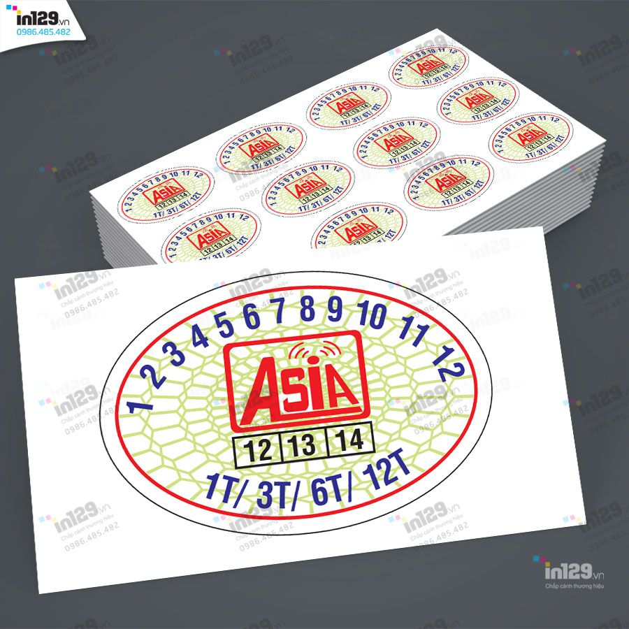 mẫu tem bảo hành thiết bị mạng