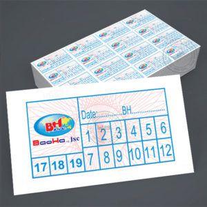 Mẫu tem bảo hành Bao Ha JSC