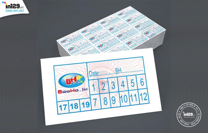 mẫu tem bảo hành đẹp