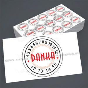 Mẫu tem bảo hành mỹ phẩm DANKA
