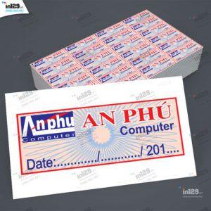Mẫu tem bảo hành máy tinh Công ty An Phú Hà Nội
