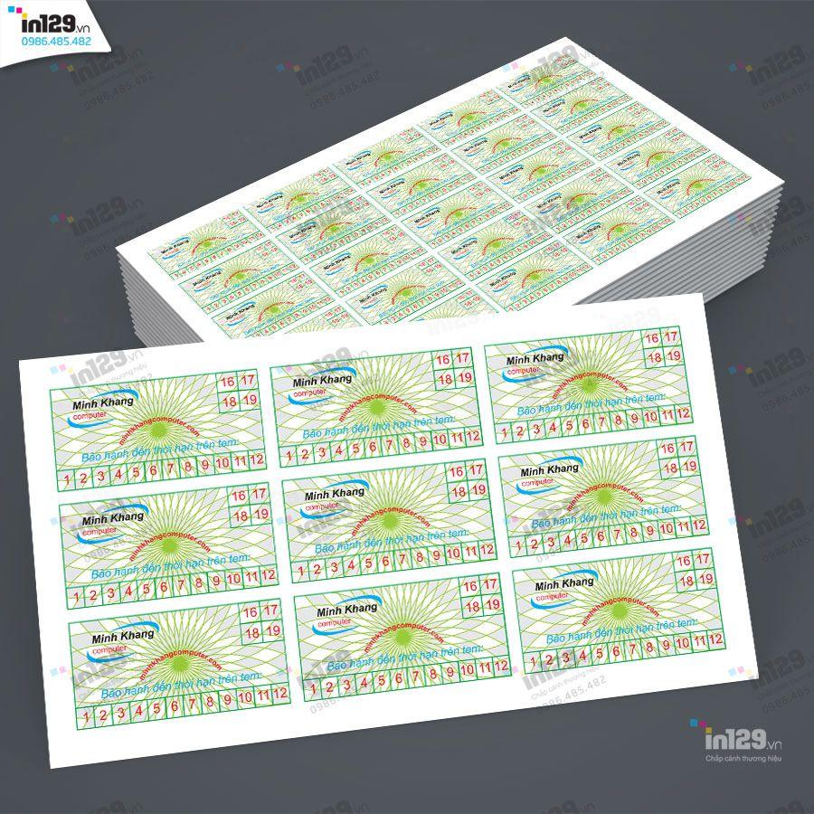 mẫu tem bảo hành máy vi tính