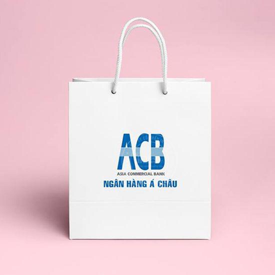 mẫu túi giấy đựng quà ngân hàng ACB