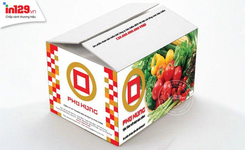 mẫu thùng carton đựng rau quả