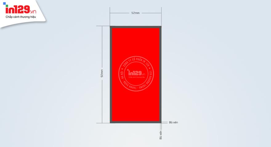 Kích thước card visit đứng