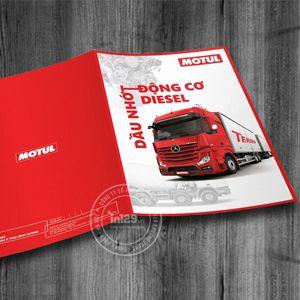 Mẫu catalogue giới thiệu dầu nhớt động cơ