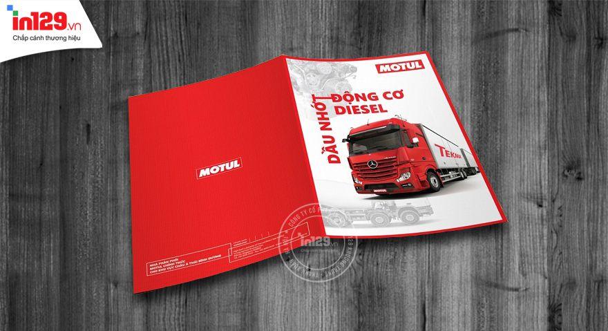 Mẫu catalogue giới thiệu dầu nhớt động cơ của hãng Motul