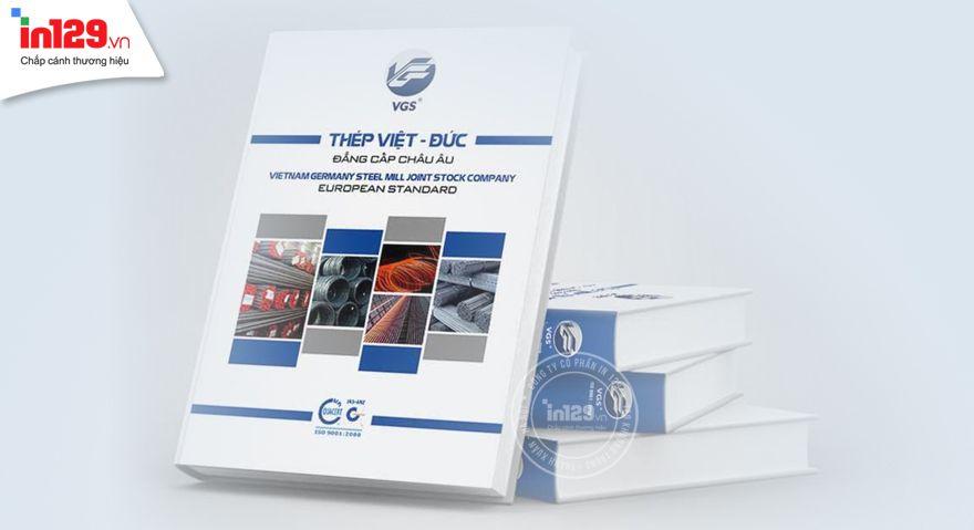 Mẫu catalogue thép Việt Đức