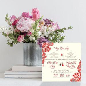 Mẫu thiệp cưới đơn giản mà đẹp