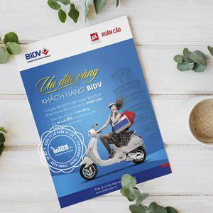 Mẫu tờ rơi quảng cáo đẹp của ngân hàng BIDV