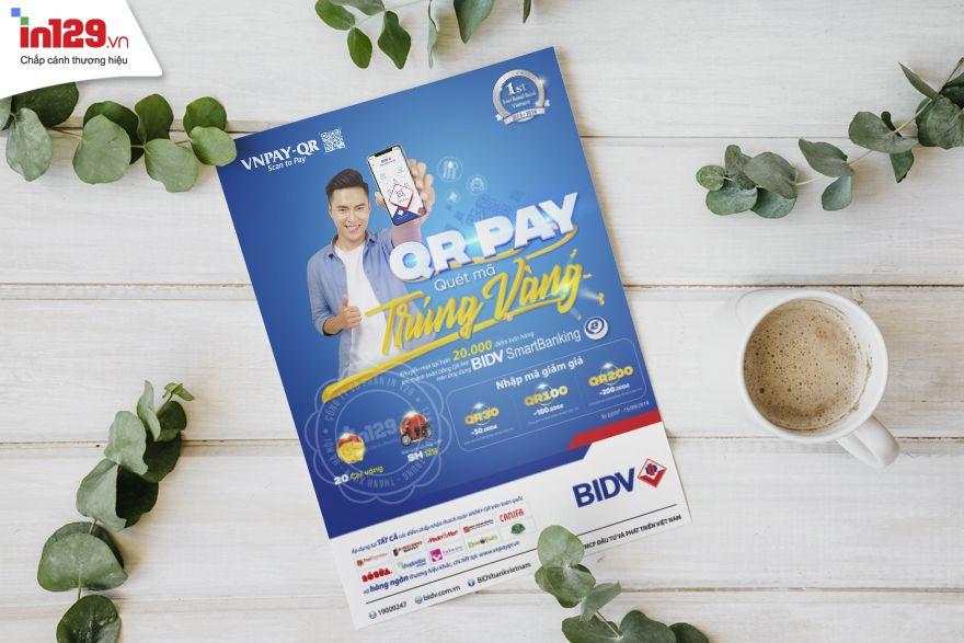 Mẫu tờ rơi quảng cáo của Ngân hàng BIDV