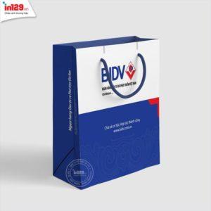 In túi giấy ngân hàng BIDV