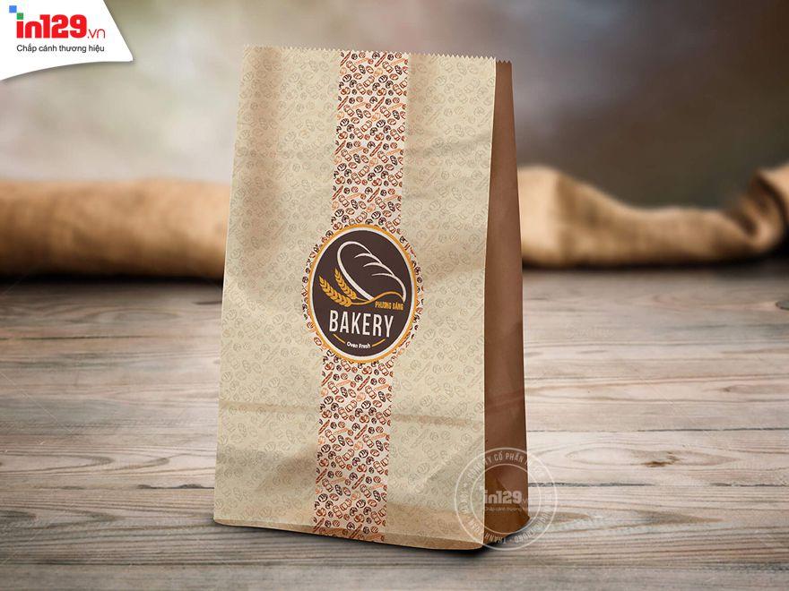mẫu túi giấy đựng bánh