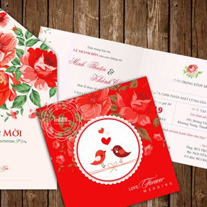 Mẫu thiệp cưới đẹp và rẻ