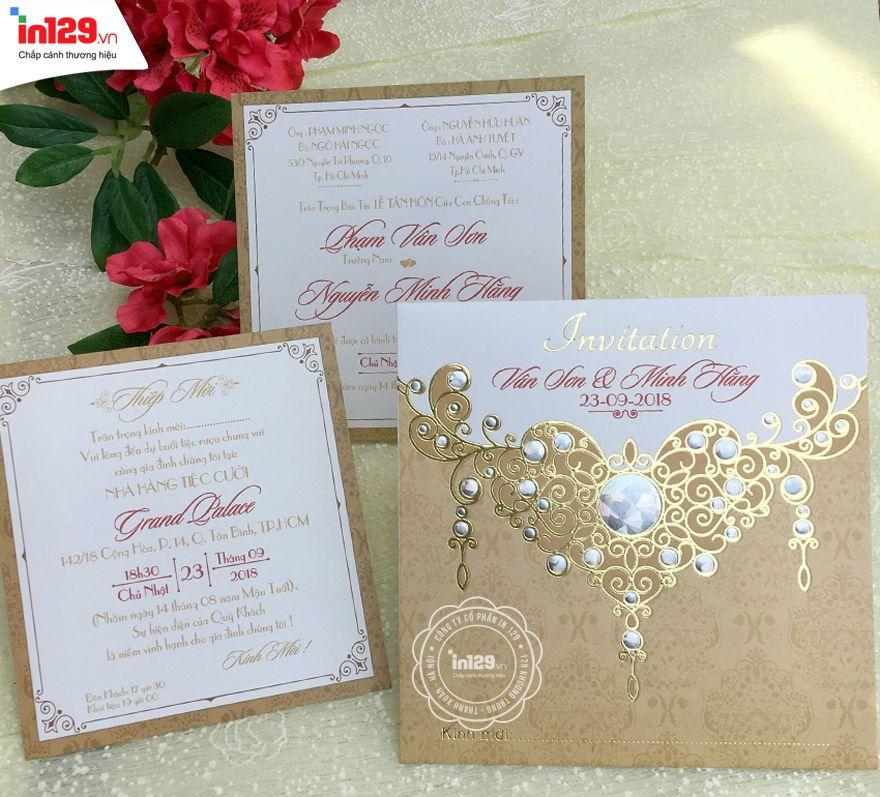 Mẫu thiệp cưới đơn giản và độc đáo