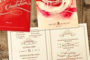 Mẫu thiệp cưới đẹp màu đỏ