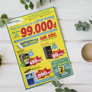 Mẫu tờ rơi đẹp quảng cáo điện thoại