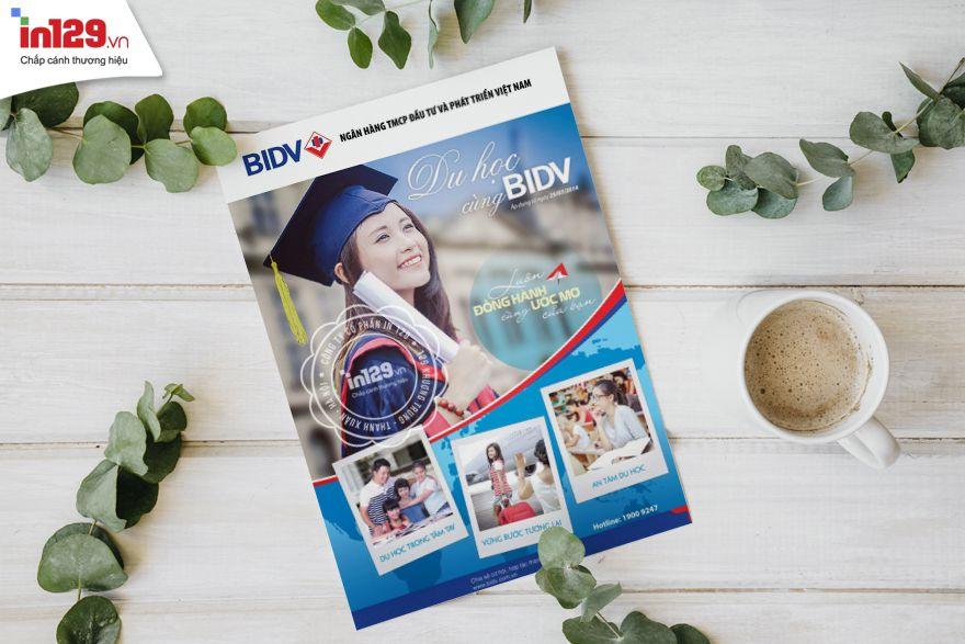 Mẫu tờ rơi (flyer) đẹp của ngân hàng BIDV