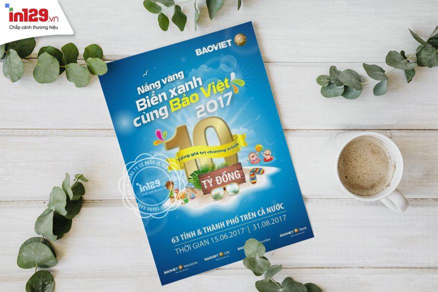 Mẫu tờ rơi đẹp quảng cáo của Bảo Việt
