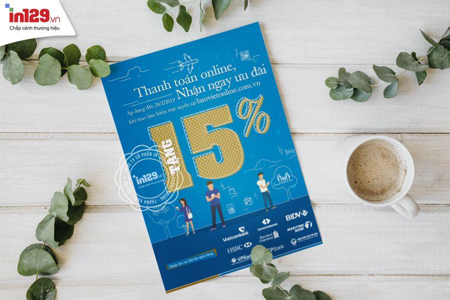 Mẫu tờ rơi quảng cáo ấn tượng của Bảo Việt Online