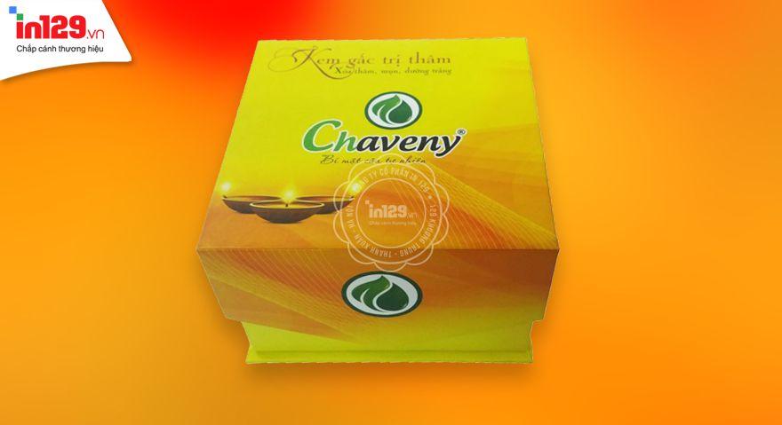 Hộp cứng đựng mỹ phẩm thương hiệu Chaveny
