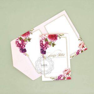Mẫu thiệp cưới đơn giản mang phong cách Vintage