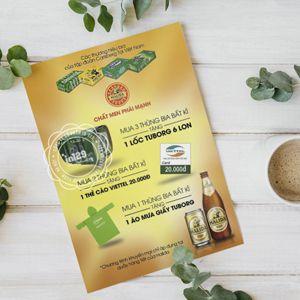 Mẫu tờ rơi quảng cáo bia của tập đoàn Carlsberg