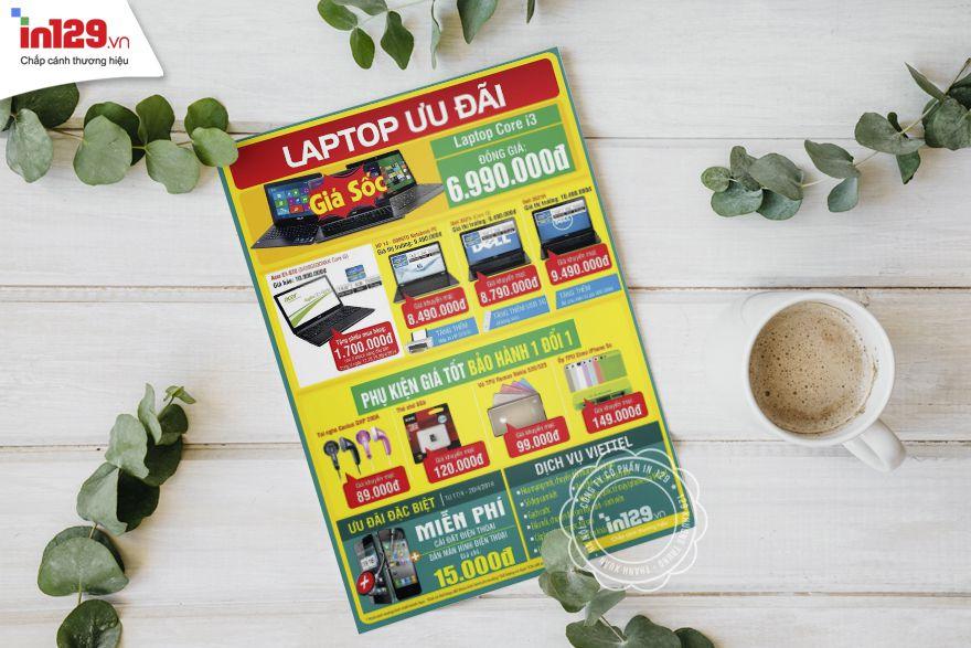 Mẫu tờ rơi quảng cáo laptop của Viettel