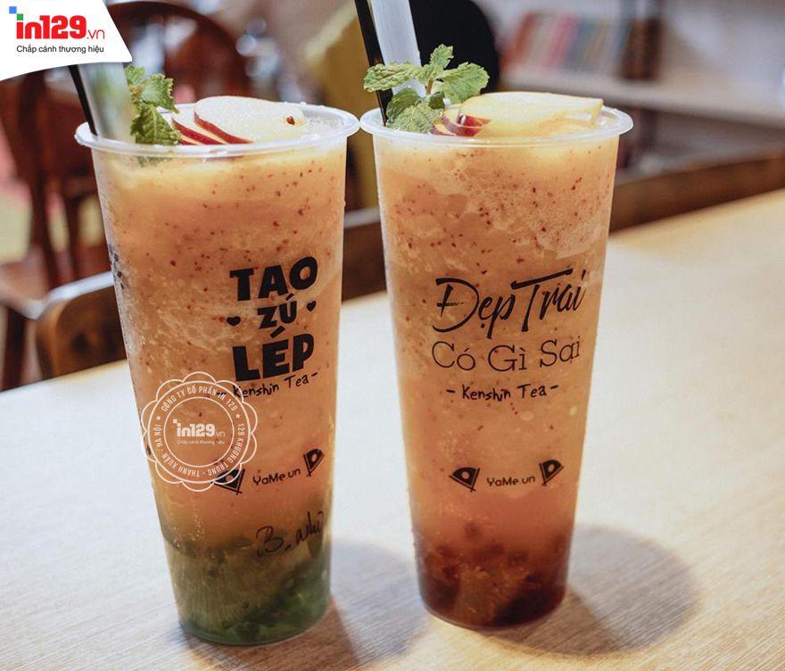 In sticker dán ly trà sữa độc đáo và ấn tượng của thương hiệu Yame
