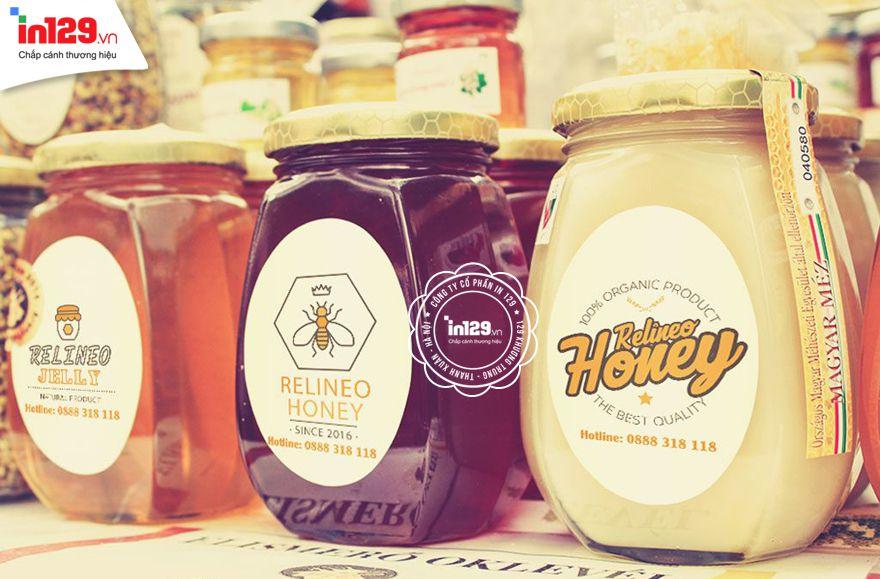 In sticker tròn để dán lên sản phẩm mật ong Relineo