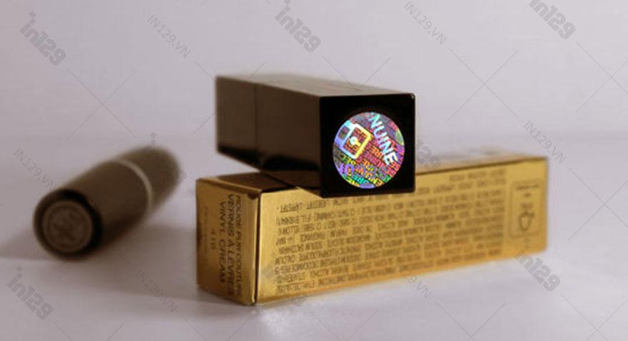 Mẫu tem 7 màu hologram cho In129 thực hiện