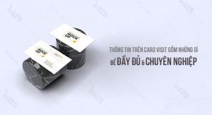 Thông tin trên card visit gồm những gì để đầy đủ và chuyên nghiệp